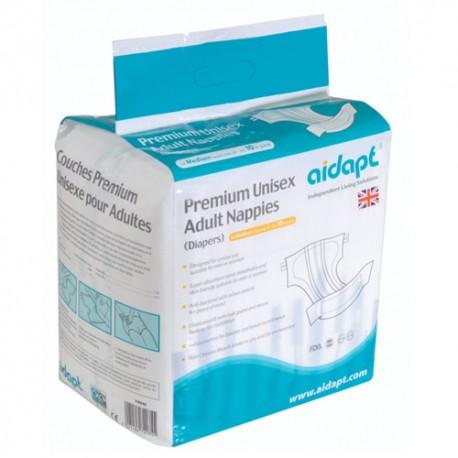 Couches adultes premium unisexe protection pour incontinence - Hygiène et Santé