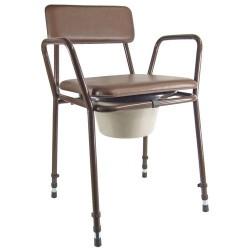 Chaise percée réglable en hauteur essex - Chaise percée sans roulette