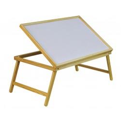 Plateau en bois pliable et inclinable pour petit-déjeuner au lit