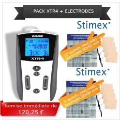 Pack électrostimulation XTR4 + électrodes