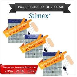 Pack sachets électrodes adhésives rondes 50 mn