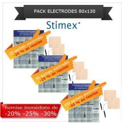 Pack sachets électrodes adhésives 80x130 mm