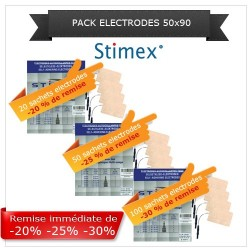 Pack sachets électrodes adhésives 50x90 mm