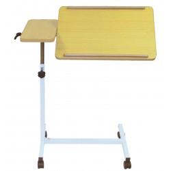 Table de lit à roulettes inclinable