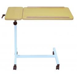 Table de lit inclinable à roulettes 2 plateaux - Manger, lire, écrire au lit