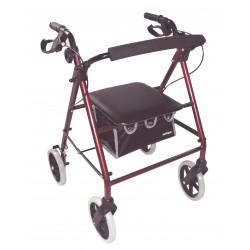 Déambulateur 4 roues léger, pliable avec siège - Déambulateur 4 roues