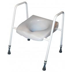 Siège de toilette surélevé et cadre réglable en hauteur et en largeur - Siège toilette réhausseur