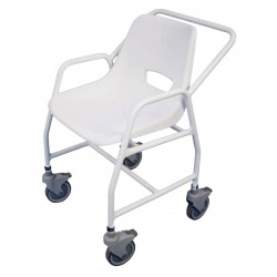 Chaise de douche mobile avec roulettes hythe configuration adjustable