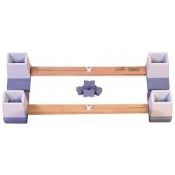 Réhausse-lit relié ajustable en hauteur et en largeur taille largeur  610mm à 890mm
