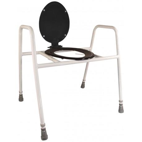 Cadre de wc rehaussé avec lunette et couvercle solo skandia - Chaise percée sans roulette