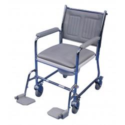 Chaise percée mobile linton configuration avec repose-pieds