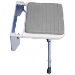 Assise grise de remplacement pour siège de douche solo - Assise salle d'eau