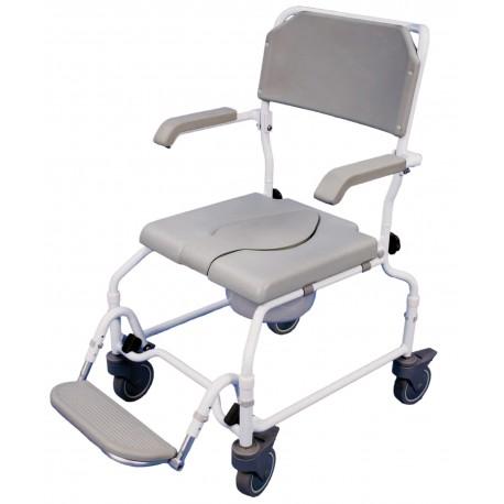 Chaise de douche percée à hauteur réglable bewl - Chaise percée à roulettes