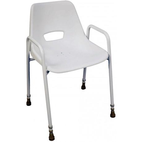Chaise de douche portatif empilable ajustable - Assise salle d'eau