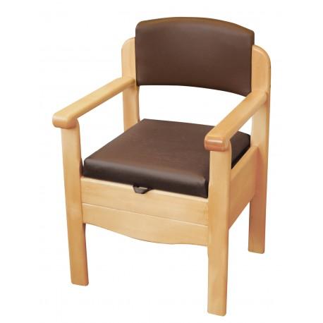 Chaise d'aisance discrète et luxueuse winsor - Chaise percée sans roulette