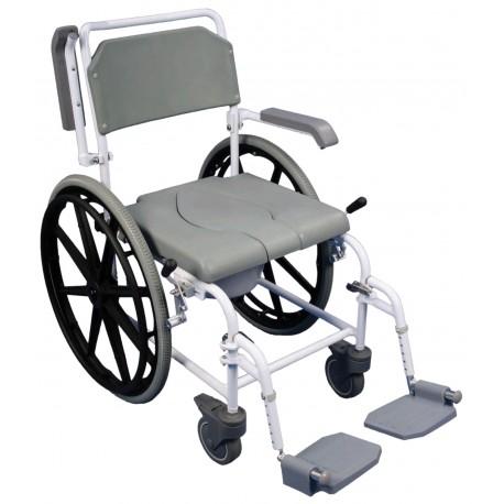 Chaise de douche percée autopropulsée bewl - Chaise percée à roulettes