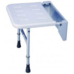 Siège de douche solo standard en aluminium - Assise salle d'eau