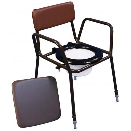 Chaise percée réglable en hauteur norfolk - Chaise percée sans roulette