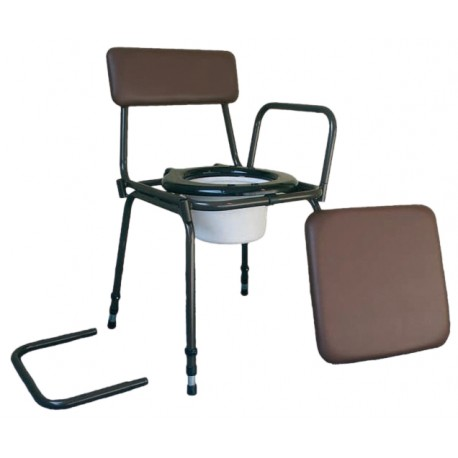 Chaise percée réglable en hauteur surrey - Chaise percée sans roulette