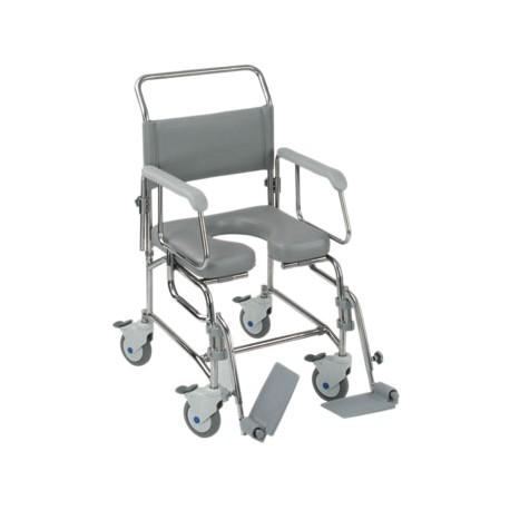 Chaise de douche percée à pousser - Chaise percée à roulettes