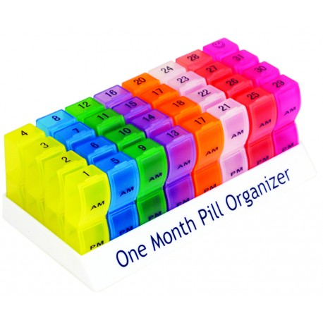 Range-comprimés mensuel et coloré - Vie quotidienne