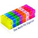 Range-comprimés mensuel et coloré
