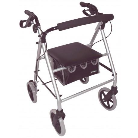 Déambulateur léger couleur argent - Déambulateur 4 roues