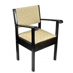 Chaise percée bois foncé - Chaise percée sans roulette